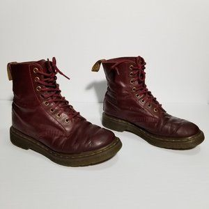 Dr. Martens Cherry Red Pascal 8 Eye Lace Up Boots